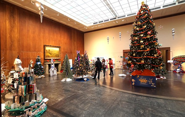 BEN GARVER — THE BERKSHIRE EAGLE<br /> The Ellen Judith Crane Memorial Room is filled with The Festival of Trees at The Berkshire Museum, December 3, 2019.