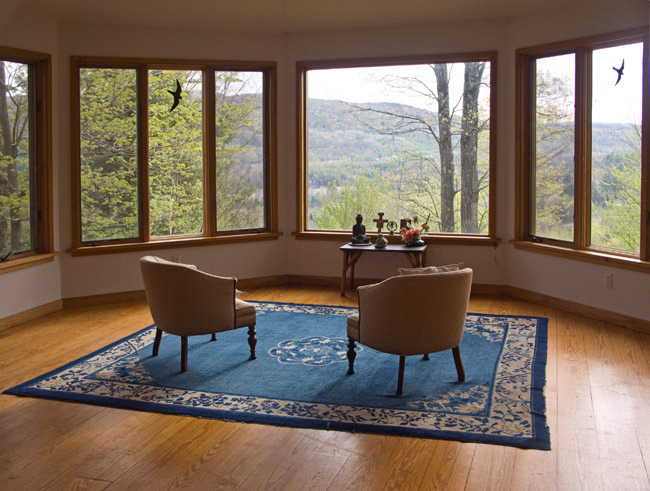 East Mountain Retreat Center, Great Barrington, Berkshires, Massachusetts. The meditation room.