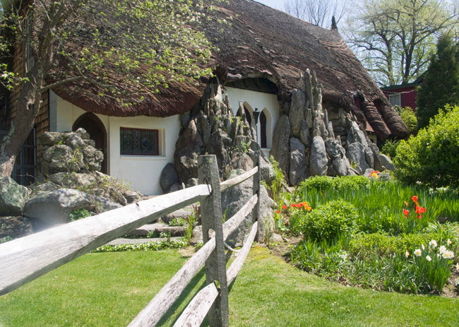 I was enchanted by Santarella, known as Tyringham's Gingerbread house.
