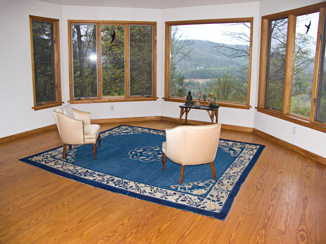 East Mountain Retreat Center, Great Barrington, Berkshires, Massachusetts. The meditation room.