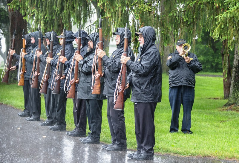 Kutztown's Memorial Day Parade was canceled due to the weather. The ceremonies at Fairview Cemetery and Hope Cemetery were held in the rain on Memorial Day, May 29, 2017. Photos by Dennis Krumanocker