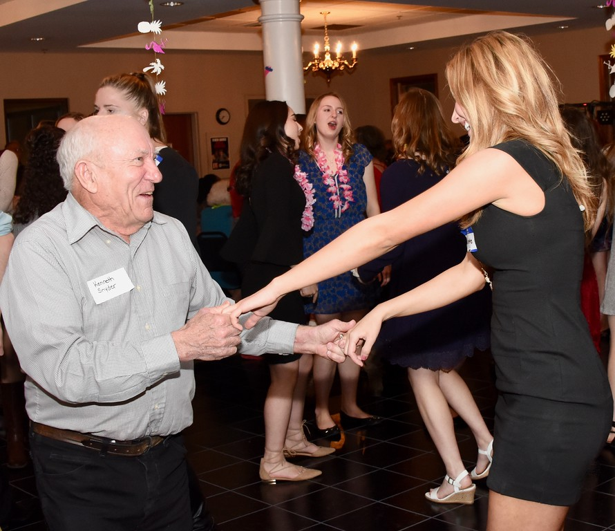 . Boyertown Area High School National Honor Society seniors organize Senior-Senior Prom, a dance for senior citizens held at The Center at Spring Street, a program of Boyertown Area Multi-Service, on Friday, March 9, 2018. Photos by Jesi Yost