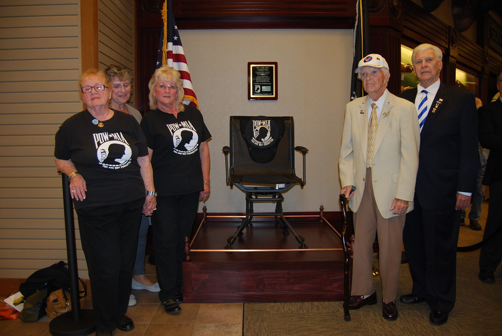 . Cabela�s in Hamburg hosted a dedication ceremony for a POW/MIA Chair of Honor which was unveiled in the store on Nov. 3, 2017. Photos by Lisa Mitchell