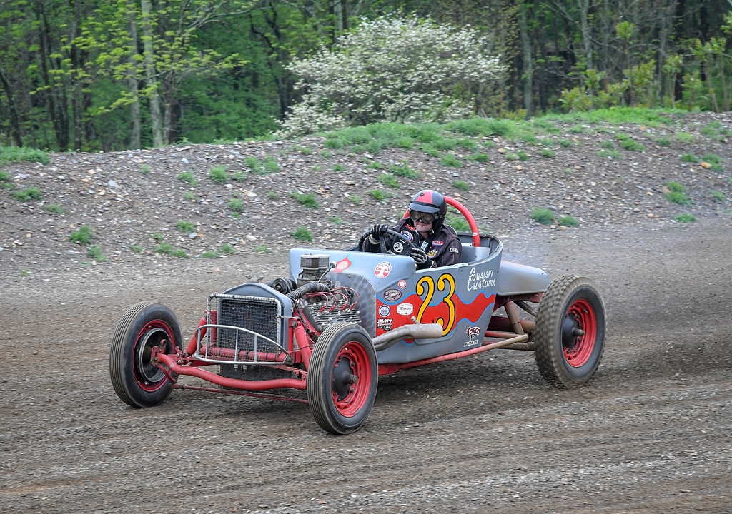 . The Circle M Ranch Speedway ran weekly stock car races from 1955 through the 1958 season. The Auburn, PA racetrack closed down nearly 60 years ago but once a year it comes back to life for the annual �Eddie Mates Memorial� Racers� Reunion, held this year Saturday, May 12, 2018. Photos by Carl Hess