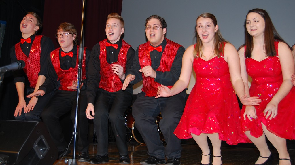 . Hamburg Area High School students performed a concert on the Hamburg Strand Theatre stage in front of an audience of family, friends and community members on Jan. 30, 2018. Photos by Lisa Mitchell
