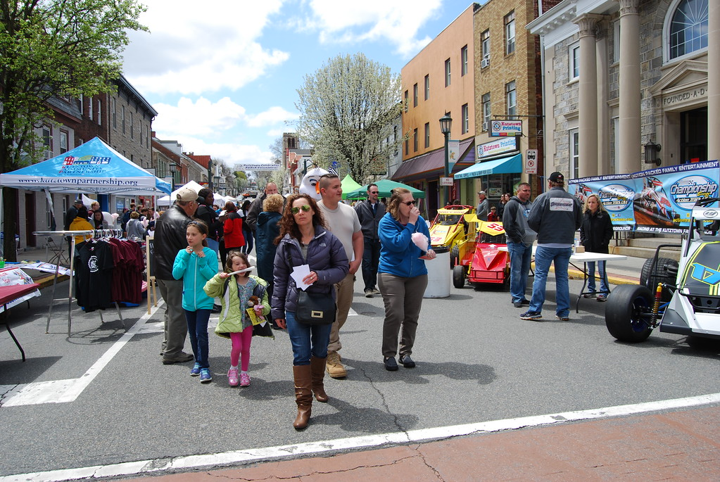 . People gathered on Main Street for music, food and fun at the Kutztown Community Partnership�s annual Kutztown Community Block Party on April 29, 2018. Photos by Lisa Mitchell