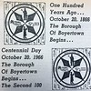 The Boyertown Area Times highlights the Centennial celebration for the Borough of Boyertown in 1966.