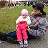 Three-year-old Audrie Updegrove with her Uncle Rudy.
