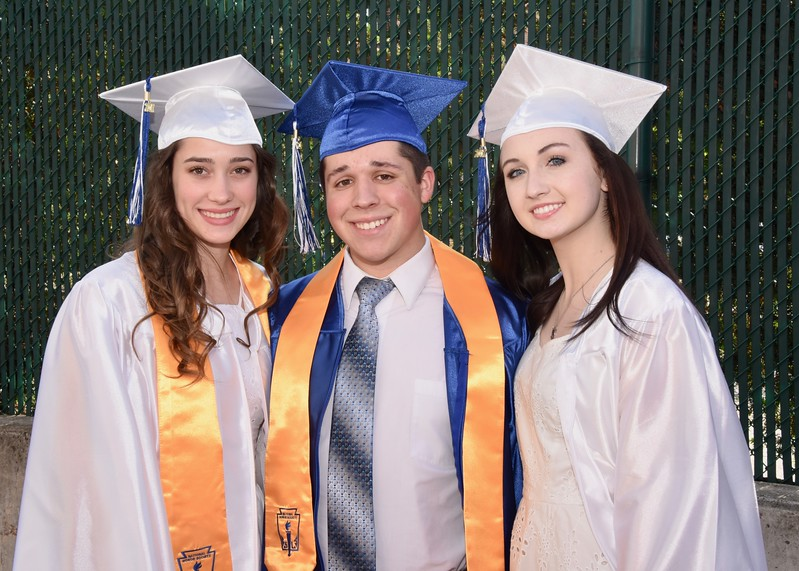 Destiny Boston, Alex Pack, and Maggie Lutz graduate for Exeter Township Senior High School on Friday, June 2.