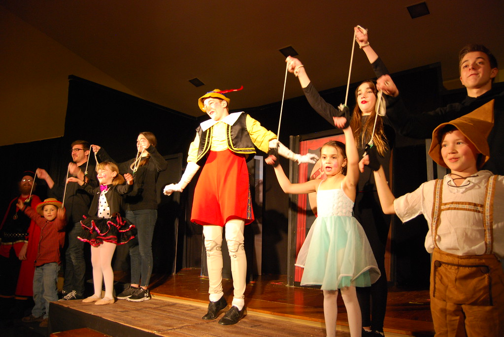 . The Talisman Players presented its first children�s production, �Pinnochio,� to sold out shows in Kutztown at Trinity Lutheran Church in Kutztown on Feb. 9, Feb. 10, Feb. 11 and Feb. 17, as well as a Brunch and a Show of �Pinnochio� presented at Kutztown University in the Georgian Room at Old Main on Feb. 18, 2018. Photos by Lisa Mitchell