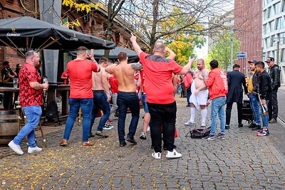Rugby fans celebrating Wales victory over France (at the World Cup in Japan)