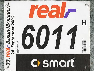 My marathon bib number