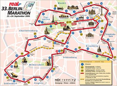 Marathon course. 42.2 kilometers, or 26.2 miles