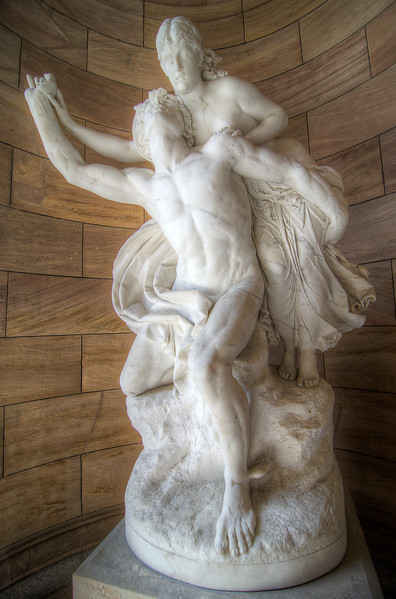 Mercury and Psyche by Reinhold Begas c1878 at Alte Nationalgalerie (Old National Gallery) Berlin. 10 July, 2012.