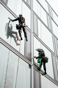 Window washers in Berlin