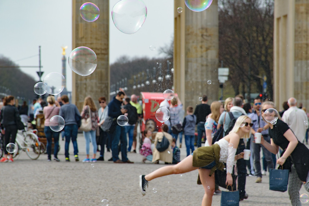 Bradenburg, Tourists and Bubbles