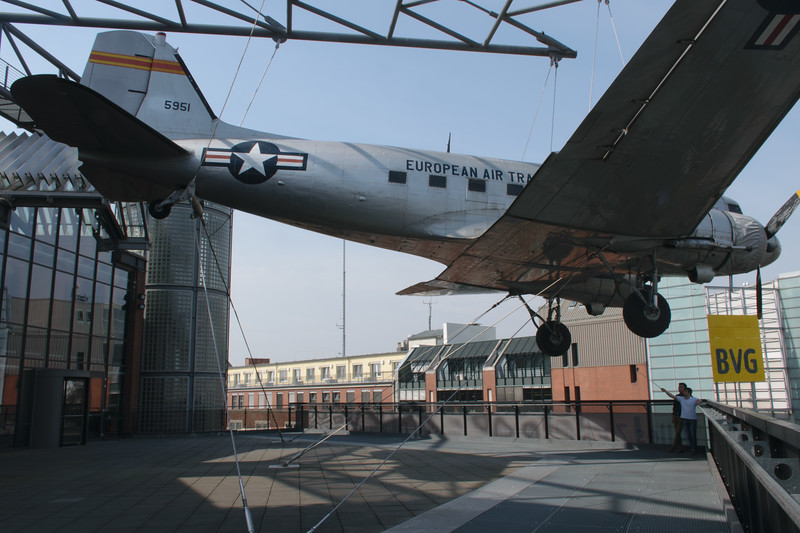 An airplane used in the airlift operation that kept West Berlin alive during Soviet blocade. Technical Museum Berlin.