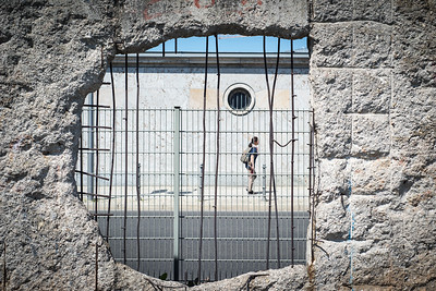 Topography of Terror | View through hole in Berlin Wall | Berlin