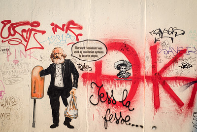 Karl Marx } East Side Gallery | Berlin