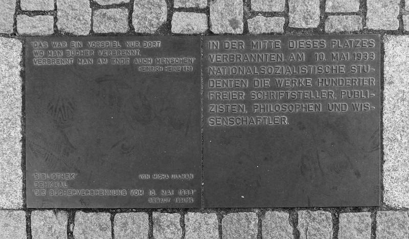 Burning Book Memorial, Berlin, Germany