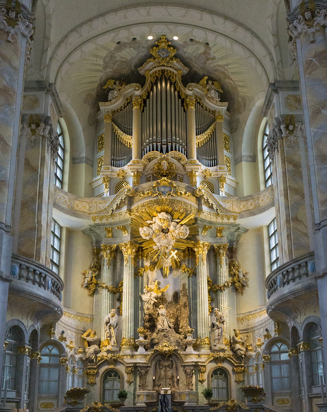 Dresden Frauenkirche, The Church of Our Lady Organ , Germany