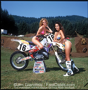 John Dowd Boysen Reed Yamaha YZ20 with Valerie Bird and LeAnn Tweeden.