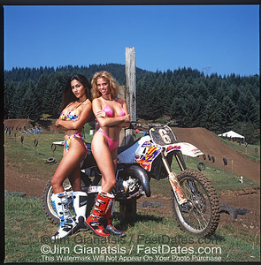 Jeff Emig Yamaha YZ125 with Valerie Bird and LeAnn Tweeden