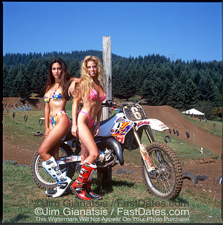 Jeff Emig Yamaha YZ125 with Valerie Bird and LeeAnn Tweeden