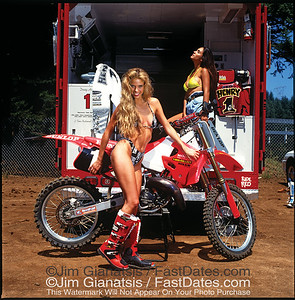 Jeremy McGrath, Team Honda CR250with  Valerie Bird and LeeAnn Tweeden