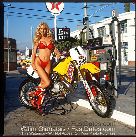 Rodney Smith Suzuki RMX250 with Tamara Watson