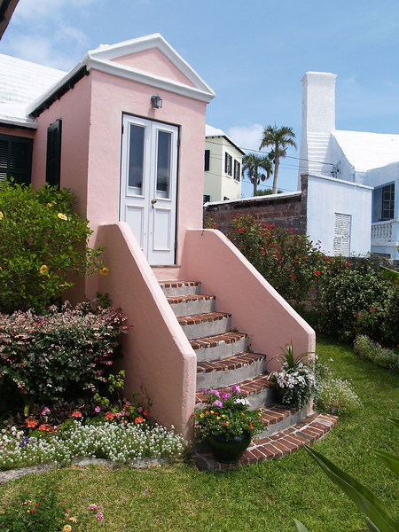 Seven Gables Front Steps & Flowers