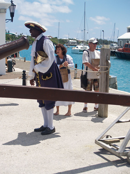 Hamilton Town Crier in St Georges