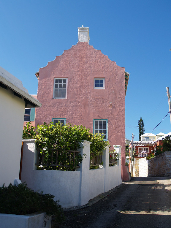 Tall Pink Gable Aunt Peggys Lane