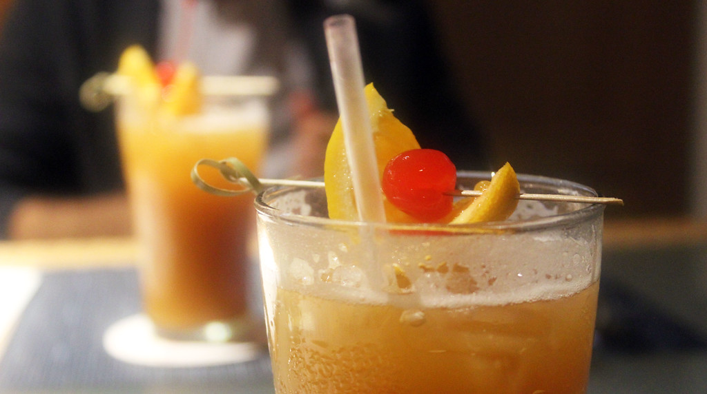 The Rum Swizzle, the drink of Bermuda along with Dark n Stormy.