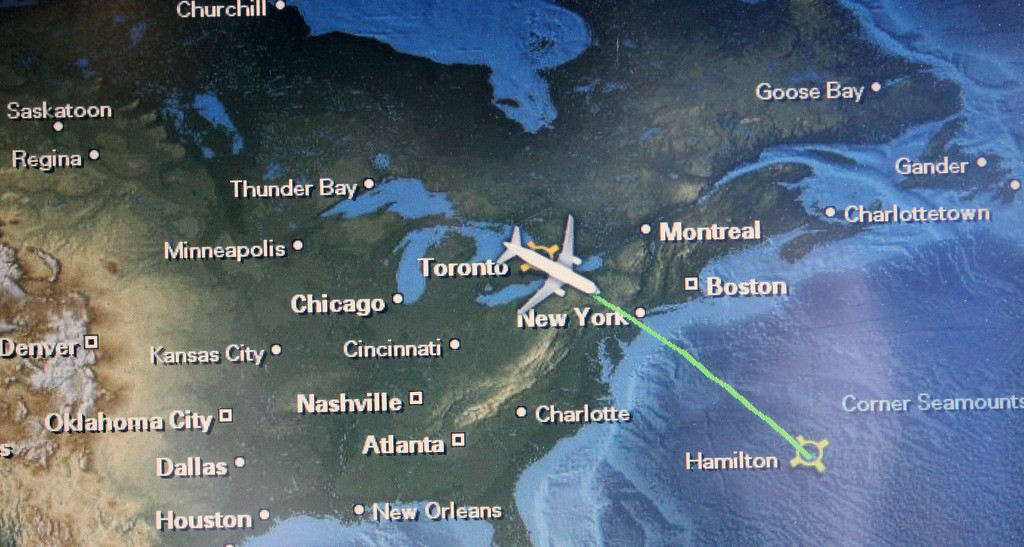 The flight from Toronto to Bermuda is short at 2.5 hours. Bermuda Facts.