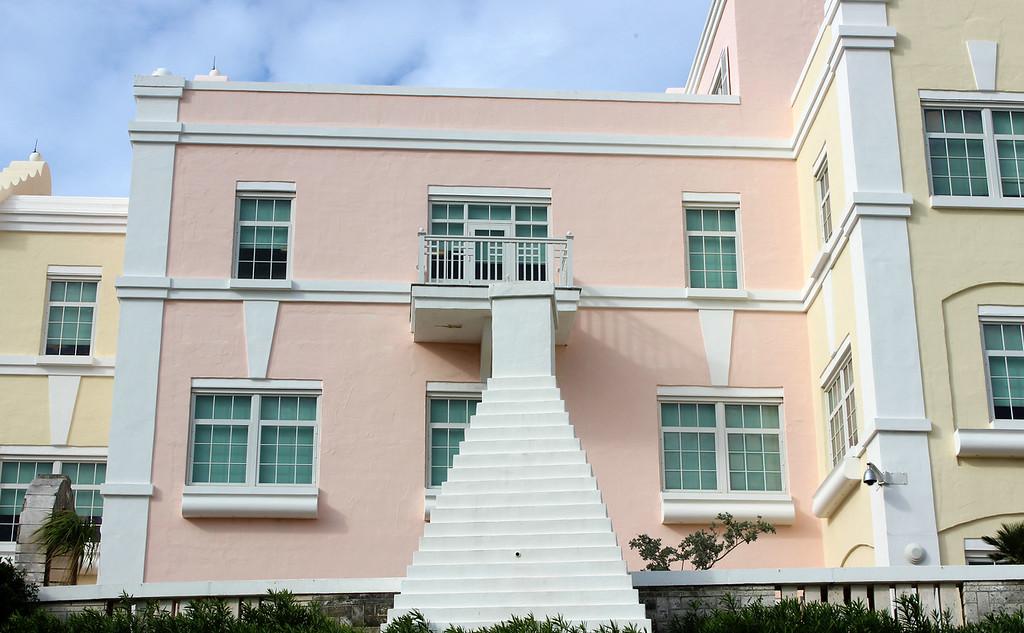 Pastel colorful buildings of Bermuda