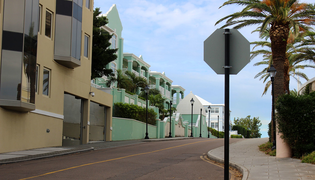 City streets of downtown Hamilton, Bermuda