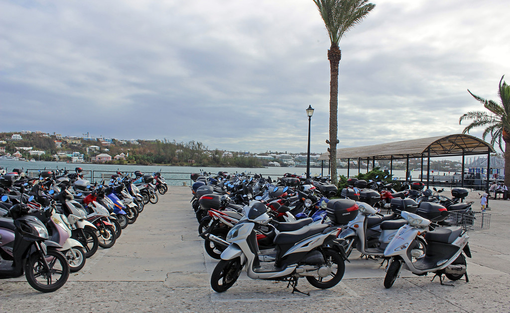 Motorcycles in Bermuda - Scooters are a popular form of transportation in Bermuda