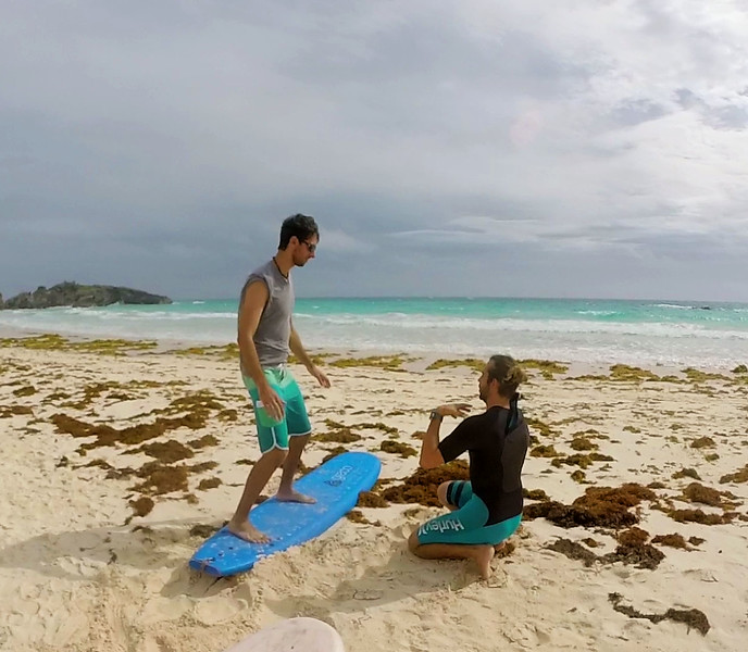 Surfing in Bermuda - Surfing lessons with Cullen of Isolated Surfboards