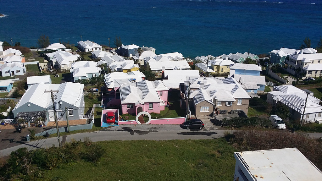 Bermuda facts: The houses are painted bright colors but all of the roofs are painted white.