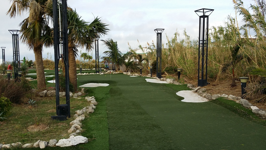 Mini golf course based off famous golf courses