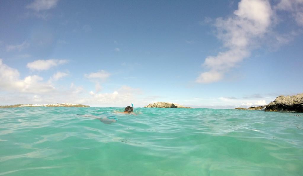 Snorkeling at Cooper's Island Nature Reserve in Bermuda