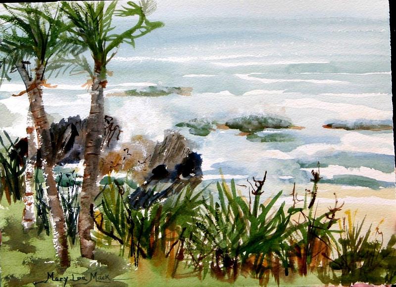 "Bermuda Surf 11"" x 15"" Price: $300. Unframed"