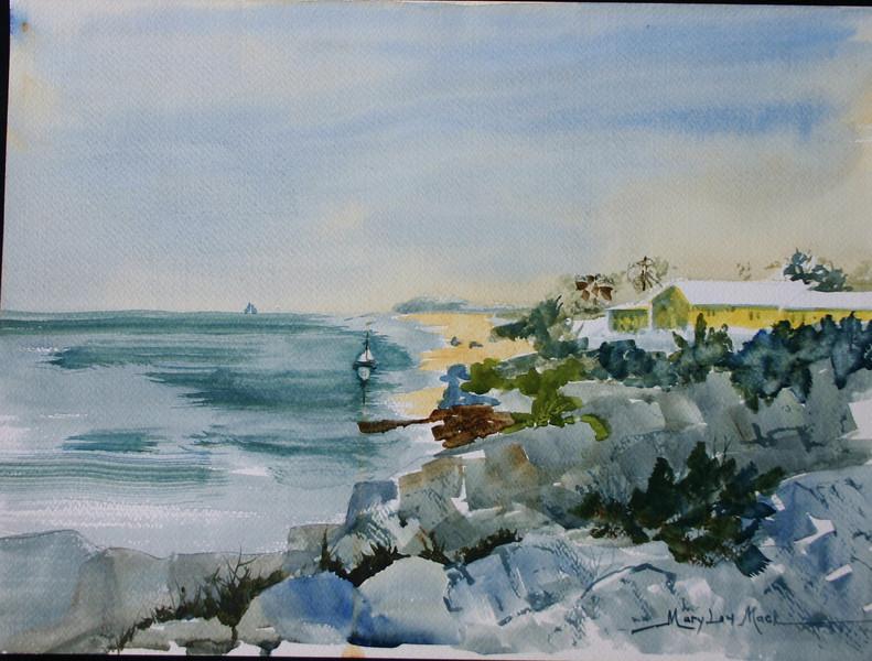 """Solitude in Bermuda<br /> 18"""" x 20"""" <br /> Price: $100. Unframed"""