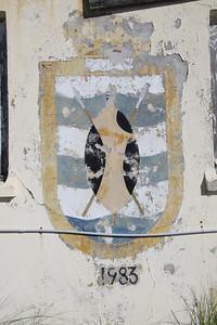 Crest of HMS Zulu at Dockyard, Bermuda. HMS Zulu was a tribal class frigate launched in 1962 and decommissioned in 1984.