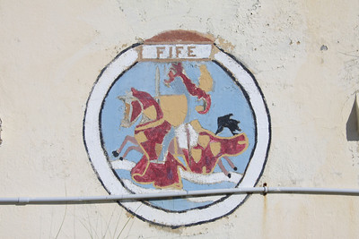 Crest of HMS Fife at Dockyard, Bermuda. HMS Fife was a County Class Destroyer launched in 1964 and decommissioned in 1987.