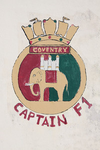 Crest of HMS Coventry at Dockyard, Bermuda. There have been two Royal Navy ships named HMS Coventry. The second (D118) was a Type 42 destroyer launched in 1974.  She was sunk by Argentine aircraft on 25th May 1982 in the Falklands War.