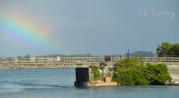 Rainbow over Flatts Bridge