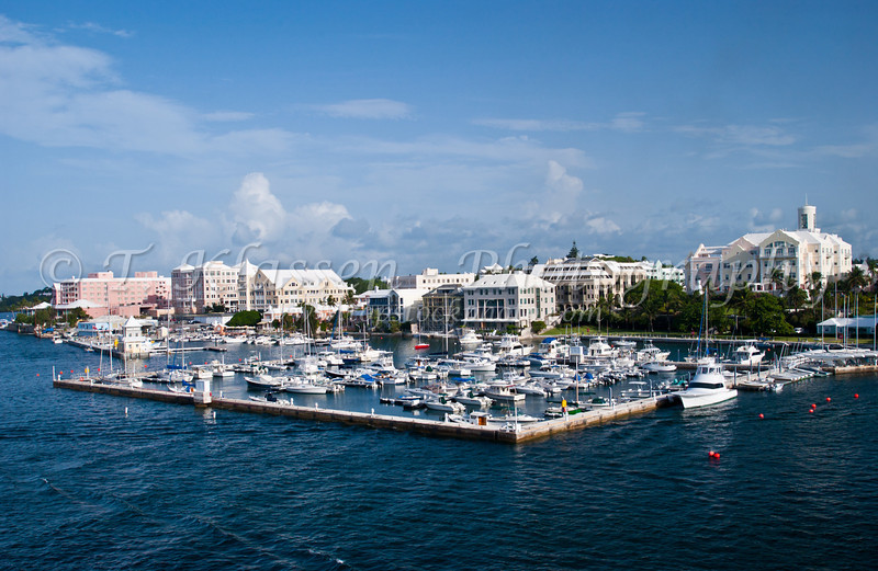 The marina in Hamilton, Bermuda.