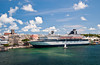 The harbor and cruise ship dock in Hamilton, Bermuda, in the British Overseas Territory.